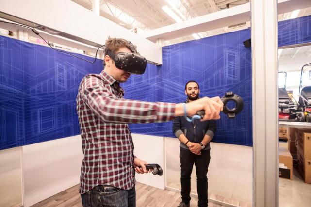 Démonstration d'une nouvelle technologie de réalité virtuelle pour... (photoHugo-Sébastien Aubert, la presse)