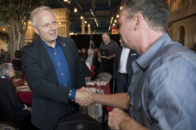 Le chef du Parti québécois Jean-François Lisée était... (Spectre Média, Frédéric Côté)