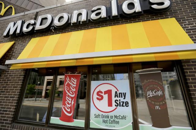 Après deux années difficiles, McDonald's a enregistré au premier trimestre une... (Photo AP)