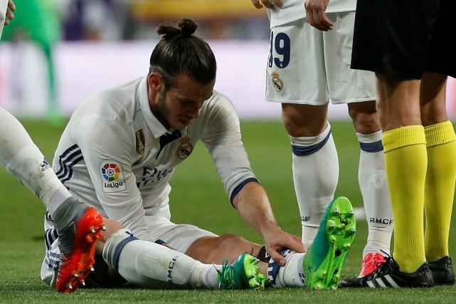 Gareth Bale a subi une blessure au mollet... (Photo Reuters)