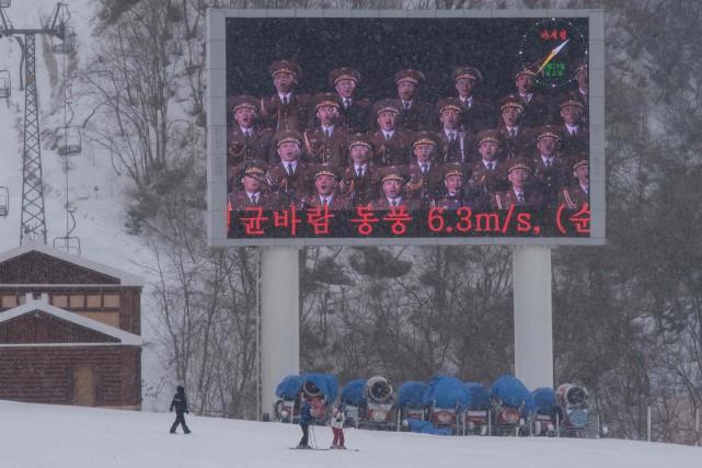 Avec un dénivelé de 700 mètres, Masikryong n'a... (Photo Ed Jones, Agence France-Presse)