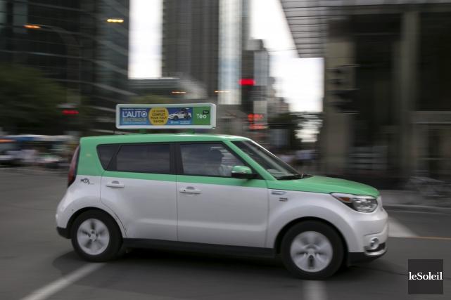 Un véhicule de Téo taxi... (Photothèque Le Soleil)