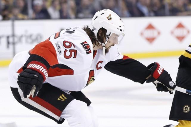 Malgré ses blessures, Erik Karlsson a été le... (Photo Greg M. Cooper, USA Today Sports)