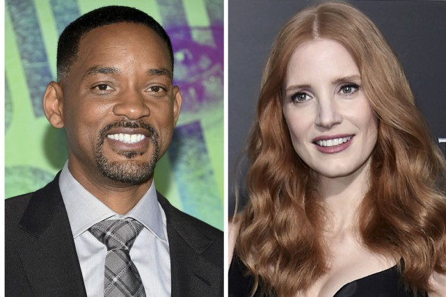 Will Smith et Jessica Chastain seront du jury... (AP, Evan Agostini et AP, Richard Shotwell)