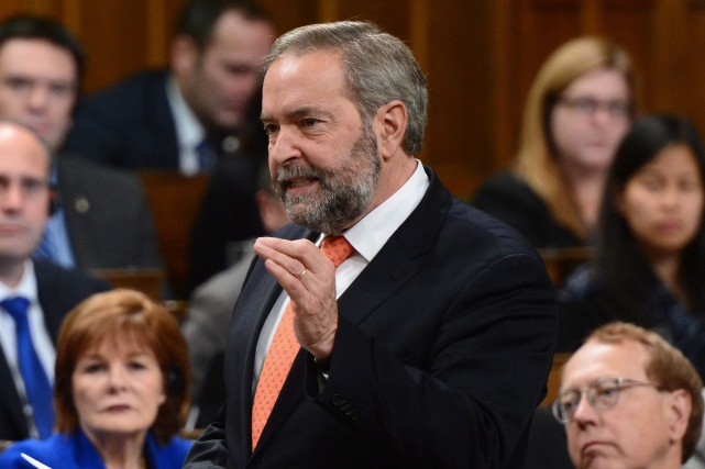 Le chef du NPD, Thomas Mulcair... (PHOTO ARCHIVES LA PRESSE CANADIENNE)