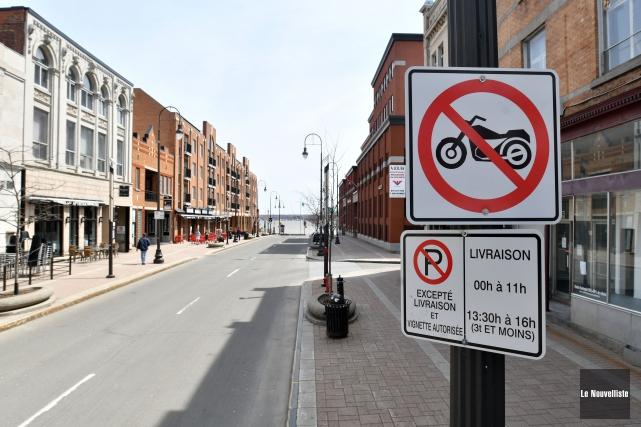 La circulation des motos est maintenant interdite sur... (Stéphane Lessard, Le Nouvelliste)