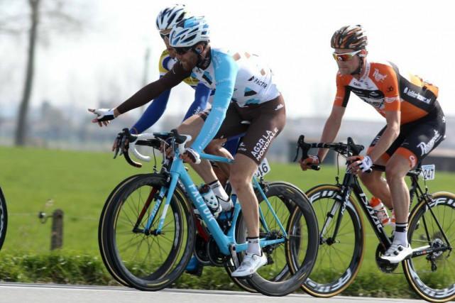 Hugo Houle a apprécié sa journée au Tour... (Frédéric Machabert)