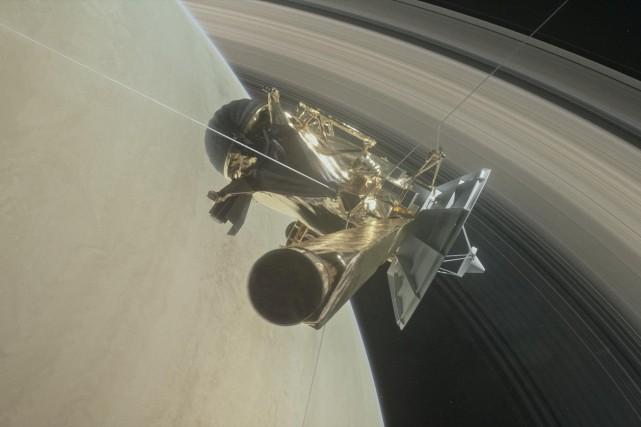 La sonde Cassini va effectuer 22 orbites de... (ILLUSTRATION FOURNIE PAR LA NASA)