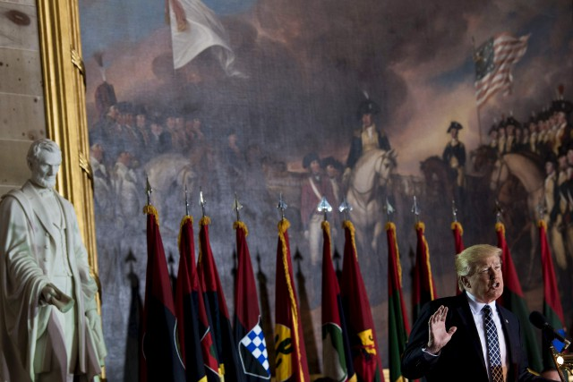 Samedi, le président américain Donald Trump en sera... (AFP, Brendan Smialowski)