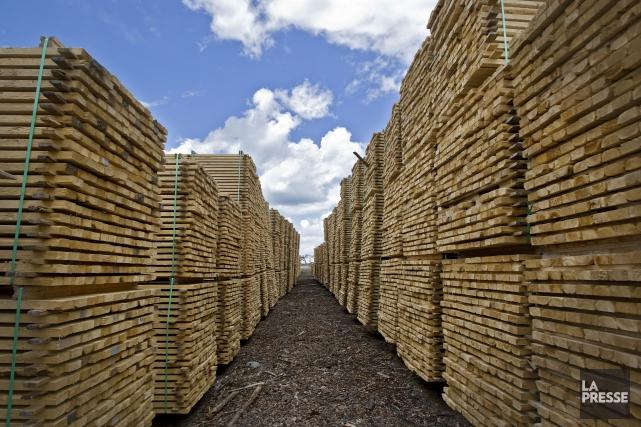ÉDITORIAL / Les travailleurs de l'industrie du bois, les scieries, les... (Archives, La Presse)
