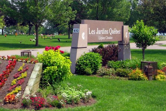 Une portion du cimetière Les Jardins Québec appartenant... (PHOTO TIRÉE DU SITE LEPINECLOUTIER.COM)