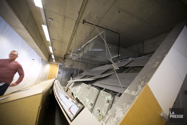 Une section du plafond de la Grande Bibliothèque... (Photo François Roy, La Presse)