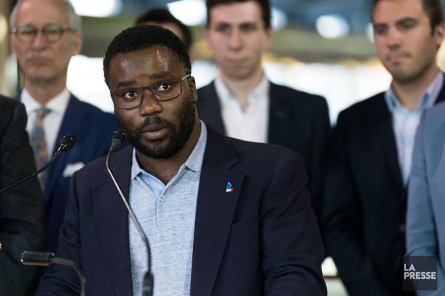 Le candidat du PLQ Jonathan Marleau... (PHOTO SIMON GIROUX, ARCHIVES LA PRESSE)