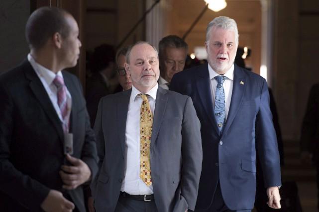 Le premier ministre Philippe Couillars a pris la... (Photothèque Le Soleil)