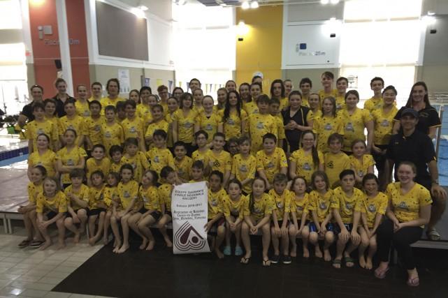 Les membres du club de natation des Loutres... (fournie)
