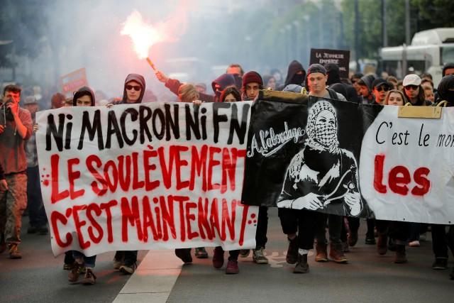 La manifestation a donné lieu à des incidents, (Photo Stephane Mahe