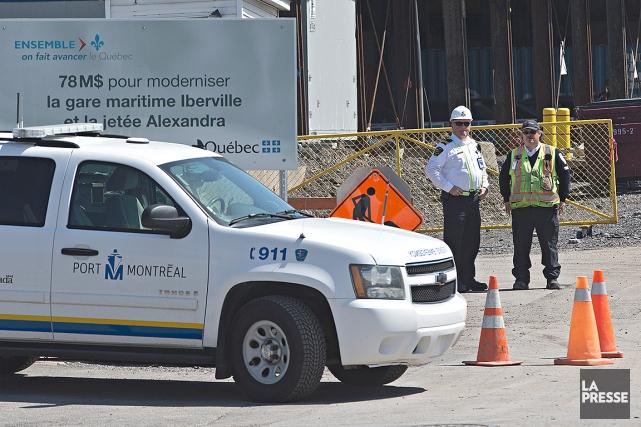 L'accident de cet avant-midi s'est produit au quai... (Patrick Sanfaçon, La Presse)