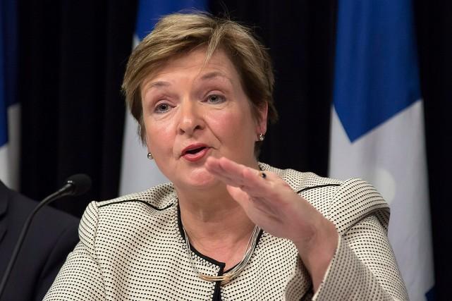 La vérificatrice générale du Québec, Guylaine Leclerc.... (Clement Allard, archives PC)