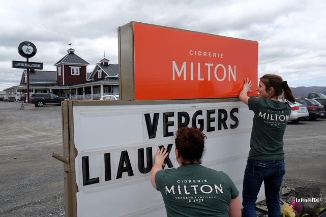 Les Vergers de la Colline deviennent la Cidrerie... (photo Alain Dion, La Voix de l'Est)