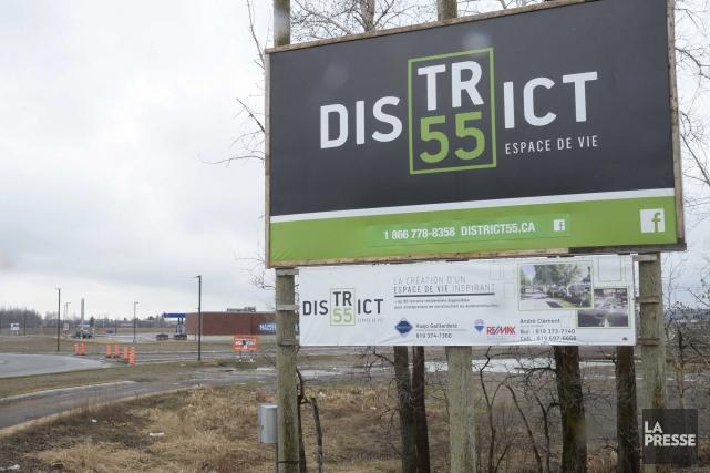 La construction projetée d'un nouveau colisée au District55... (Sylvain Mayer)