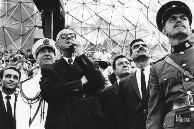 Le général Charles De Gaulle à Expo 67... (Archives La Presse)