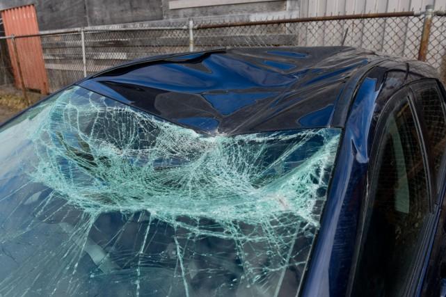 Alors qu'il circulait sur l'autoroute 55, le conducteur... (François Gervais, Le Nouvelliste)