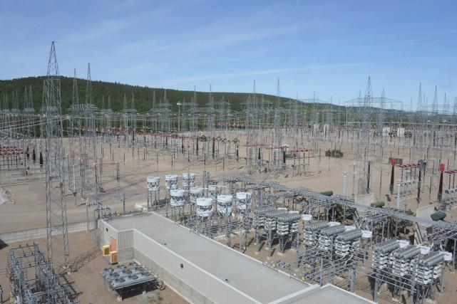 Le poste électrique Chamouchouane, situé près de La... (Photo courtoisie, Hydro-Québec)