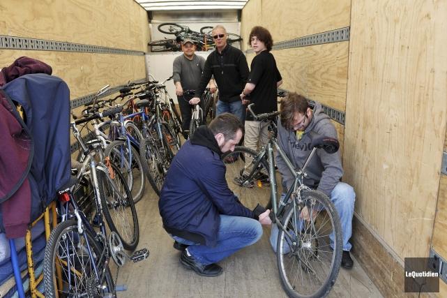 La collecte de vélos se tiendra au Montagnais... (Photo Le Quotidien, Rocket Lavoie)