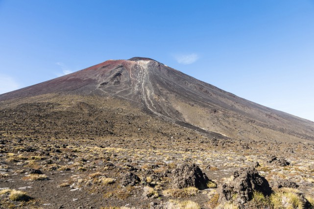 Le mont Ngauruhoe, en Nouvelle-Zélande. On l'aperçoit dans... (Photo Thinkstock)