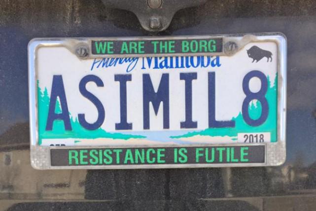La Société d'assurance publique du Manitoba (SAPM) a retiré la plaque... (Photo tirée de la page Facebook de Nick Troller)