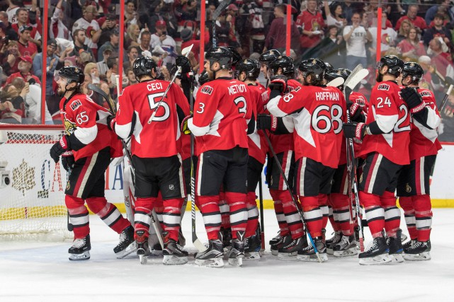 Les Sénateurs d'Ottawa ont remporté le premier match... (Photo Marc DesRosiers, USA Today Sports)