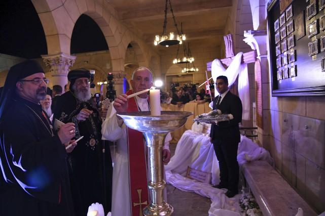 La messe a été suivie d'un moment de... (AFP)