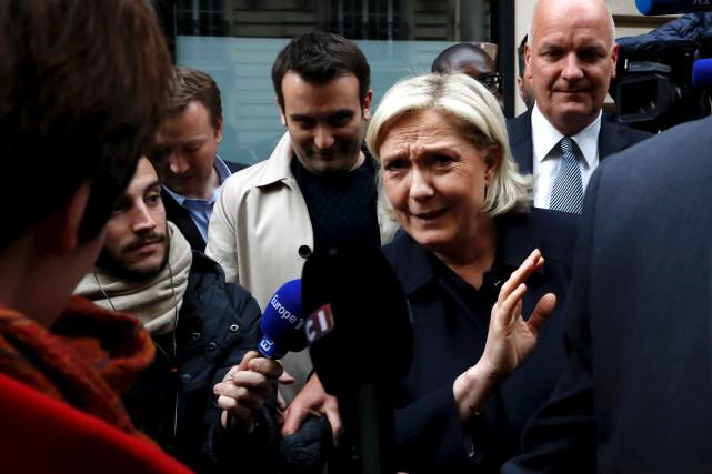 Depuis qu'elle a pris la tête du Front... (AFP, Patrick Kovarik)