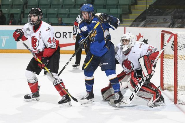 Philippe Gaudreault a repoussé 19 tirs dans la... (Fournie par Hockey Canada, Matthew Murnaghan)
