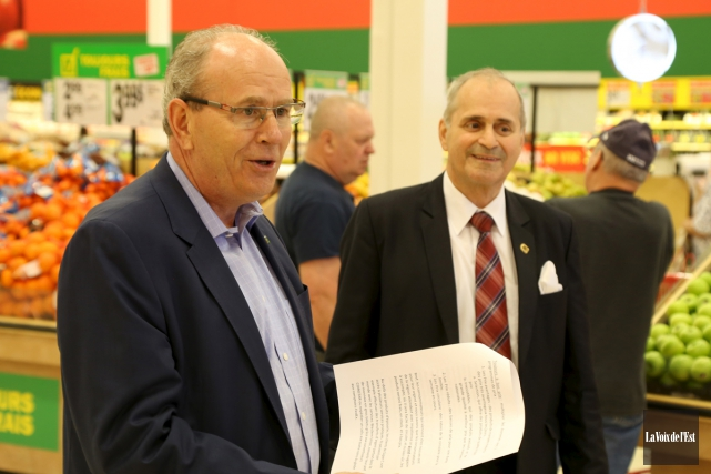 Les travaux d'agrandissement au supermarché Super C de... (Janick Marois, La Voix de l'Est)