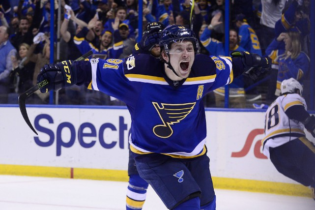 Doublé pour  Vladimir Tarasenko (91) vendredi contre les... (photo USA TODAY Sports)
