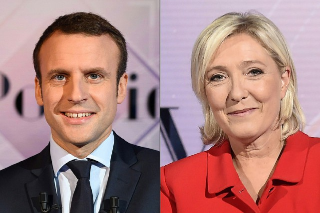 Emmanuel Macron et Marine Le Pen... (PHOTOS ARCHIVES AGENCE FRANCE-PRESSE)