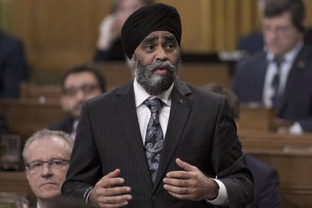 Le ministre canadien de la Défense, Harjit Sajjan,... (Archives La Presse canadienne, Justin Tang)
