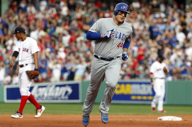 Anthony Rizzo a frappé un circuit de deux... (Photo Winslow Townson, USA TODAY Sports)