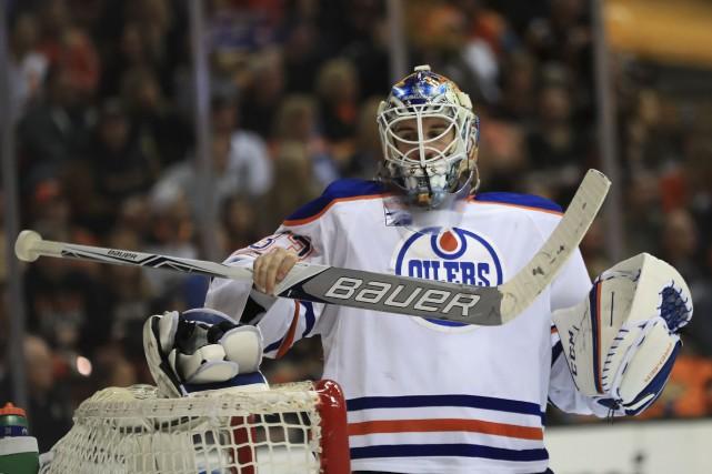 Edmonton a pris une avance de 2-0 dans... (AFP, Sean M. Haffey)