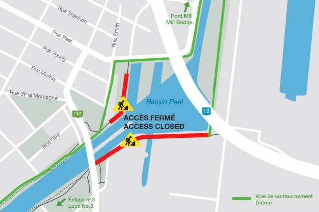 La piste cyclable du canal de Lachine est... (image tirée de twitter)