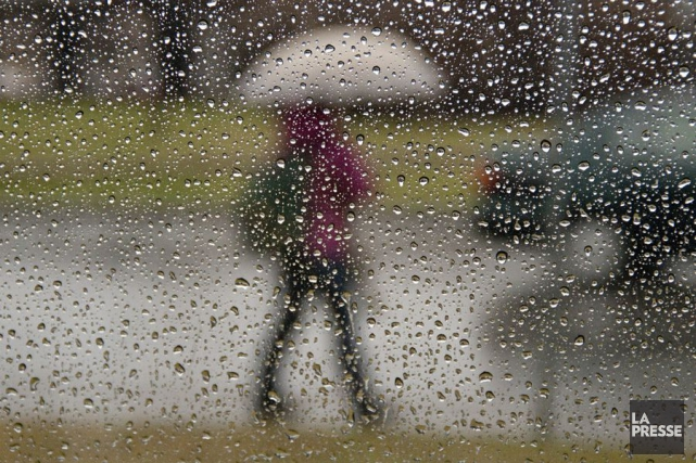 Le mois d'avril, qui se termine dimanche, a été très pluvieux, et des records... (Photo David Boily, archives La Presse)