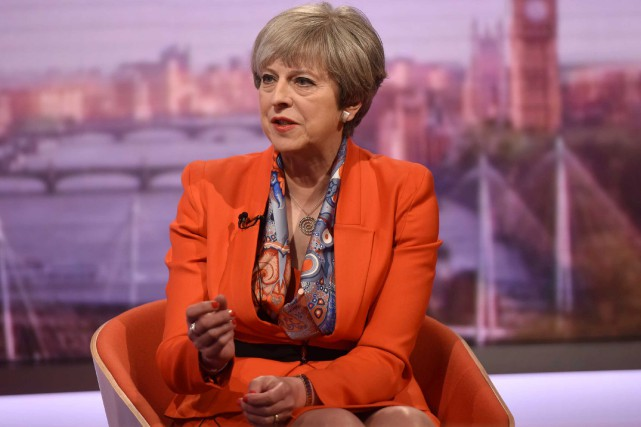 Theresa May... (Photo Jeff Overs, BBC VIA REUTERS)