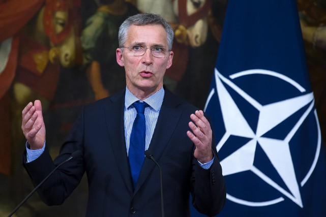 Jens Stoltenberg... (Photo Agelo Carconi, archives ANSA via AP)