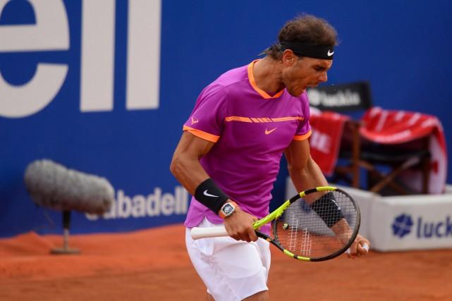 Rafael Nadal compte maintenant 71titres à son palmarès.... (Photo Josep LAGO, AGENCE FRANCE-PRESSE)