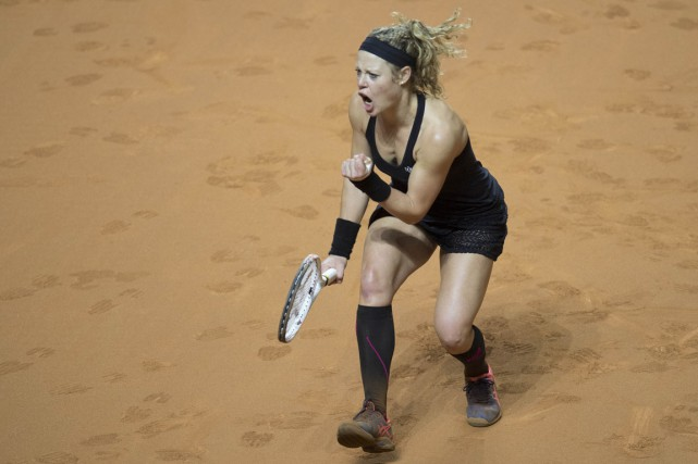 Laura Siegemund... (Photo THOMAS KIENZLE, AGENCE FRANCE-PRESSE)