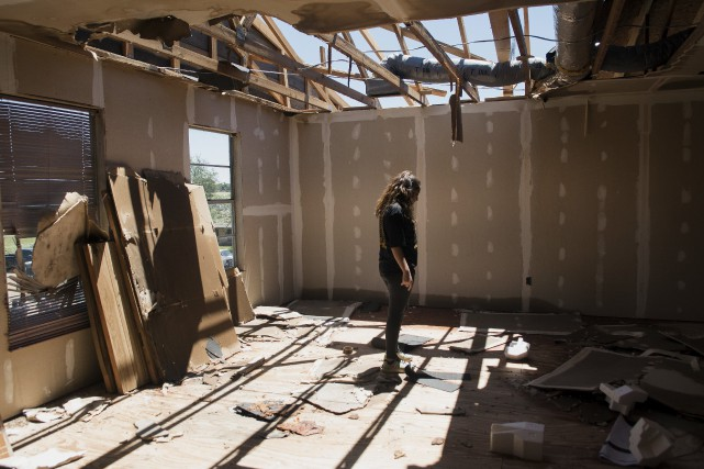 Des orages violents ont balayé la municipalité de... (Photo Sarah A. Miller, AP)