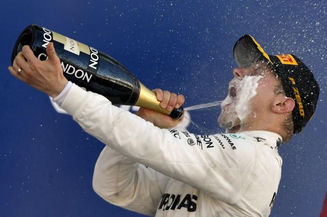 Valtteri Bottas a remporté son premier grand prix,... (Agence France-Presse)