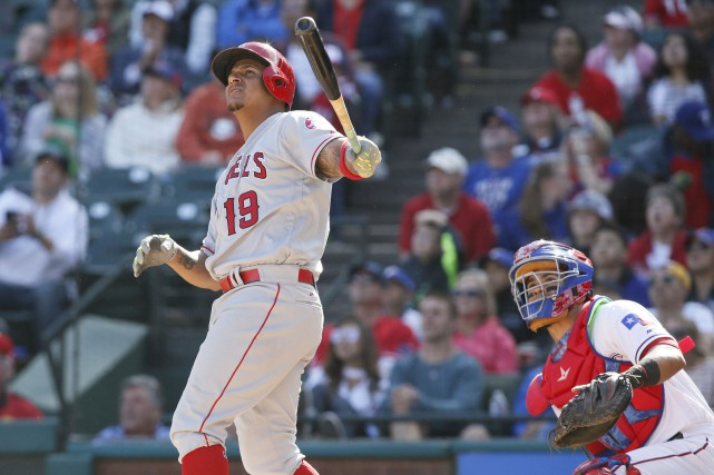 Jefry Marte a frappé un circuit, sous le... (Photo Tim Heitman, USA TODAY Sports)