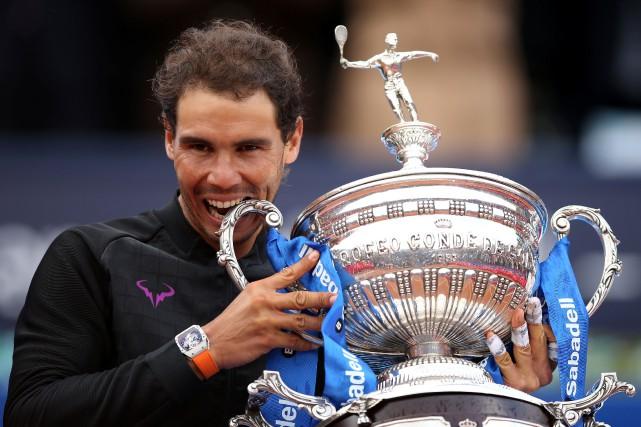 Le cinquième joueur mondial Rafael Nadal a remporté... (Photo Albert Gea, Reuters)